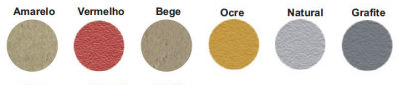 Cores diponíveis: Amarelo, Vermelho, Bege, Ocre, Natural e Grafite