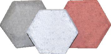 imagem Piso de Concreto Itauára Intertravado Modelo Sextavado